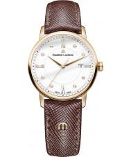 Maurice Lacroix EL1094-PVP01-150-1 Ladies Eliros Brown Leather Strap Watch