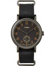 Timex TW2P86700 Mens Weekender Black Leather Strap Watch