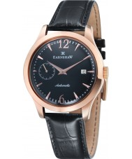 Thomas Earnshaw ES-8034-04 Mens Blake Black Croco Leather Strap Watch