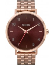 Nixon A1090-2617 Ladies Arrow Rose Gold Plated Bracelet Watch