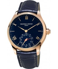 Frederique Constant FC-285N5B4 Mens Horological Smartwatch Navy Leather Strap Watch