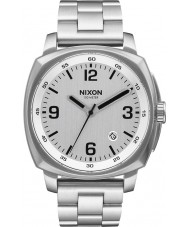 Nixon A1072-130 Mens Charger Silver Steel Bracelet Watch