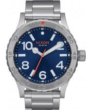 Nixon A916-1258 Mens 46 Silver Steel Bracelet Watch