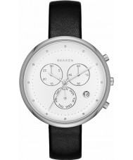 Skagen SKW2427 Ladies Gitte Black Leather Chronograph Watch