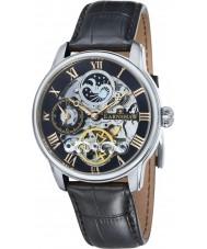 Thomas Earnshaw ES-8006-04 Mens Longitude Black Croco Leather Strap Watch