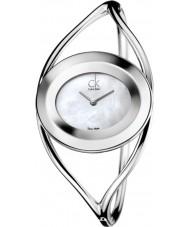 Calvin Klein Ladies Delight White Silver Small Bangle Watch