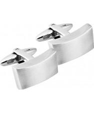 Inspirit STC14 Mens Silver Steel Cufflinks
