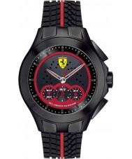 Scuderia Ferrari 0830028 Mens Race Day Black Rubber Watch