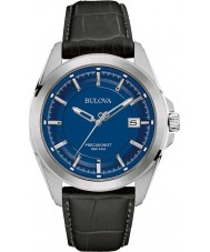Bulova 96B257 Mens Precisionist Black Leather Strap Watch