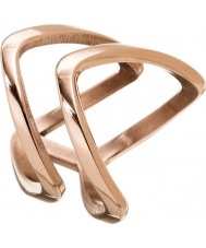 Edblad 3153441927-S Ladies Kavala Double Rose Gold Plated Ring - Size N (S)