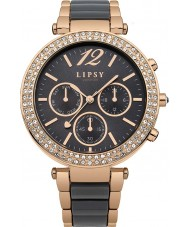 Lipsy LP404 Ladies Stone Set Multi Dial Grey and Rose Gold Watch