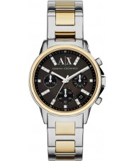 Armani Exchange AX4329 Ladies Two Tone Chronograph Dress Watch