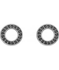 Emozioni DE405 Ladies Nero Saturno Sterling Silver Earrings