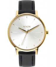 Nixon A108-1964 Ladies Kensington Leather Gold White Black Watch