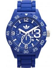 Adidas ADH2794 Mens Newburgh Blue Rubber Strap Chronograph Watch