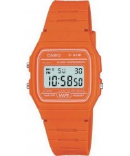 Casio F-91WC-4A2EF Mens Retro Collection Orange Chronograph Watch