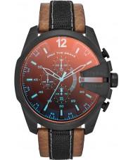 Diesel DZ4305 Mens Mega Chief Chronograph Tan Leather Strap Watch