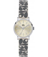 Orla Kiely OK2043 Ladies Patricia Cream Acorn Print Leather Strap Watch