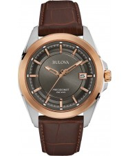 Bulova 98B267 Mens Precisionist Brown Leather Watch