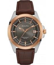Bulova 98B267 Mens Precisionist Brown Leather Watch