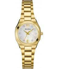 Bulova Ladies Diamond Gold Plated Bracelet Watch