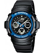 Casio AW-591-2AER Mens G-Shock Black Chronograph Sports Watch