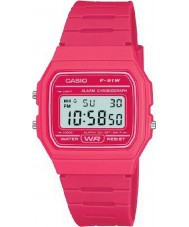 Casio F-91WC-4AEF Mens Retro Collection Pink Chronograph Watch