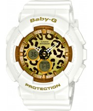 Casio BA-120LP-7A2ER Ladies Baby-G World Time White Watch with Leopard Dial