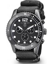 Elliot Brown 929-001-N02 Mens Bloxworth Black Fabric Strap Chronograph Watch