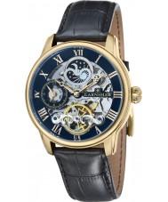 Thomas Earnshaw ES-8006-05 Mens Longitude Black Croco Leather Strap Watch