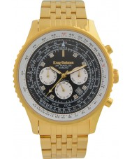 Krug-Baumen 600113DSA Mens Air Traveller Diamond Automatic Watch