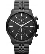 Fossil FS4787 Mens Townsman Black Steel Chronograph Watch