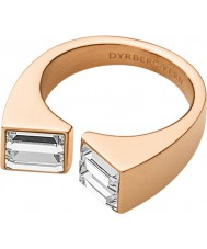 Dyrberg Kern 339090 Ladies Cadre III Rose Gold Plated Ring with Swarovski Elements - Size Q