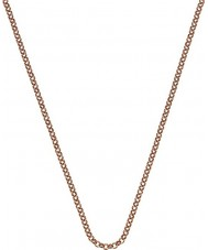 """Emozioni CH054 24"""" Rose Gold Plated Sterling Silver Belcher Chain"""