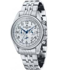 Thomas Earnshaw ES-8028-11 Mens Commodore Silver Steel Chronograph Watch