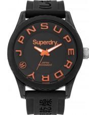 Superdry SYG145B Mens Tokyo Black Silicone Strap Watch