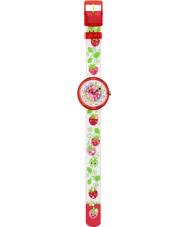 Flik Flak FBNP054 Girls Funny Fraises Multicoloured Textile Strap Watch