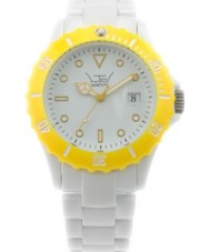 LTD Watch White Yellow Plastic Watch