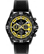 Bulova 98B176 Mens Marine Star Black Yellow Chronograph Watch