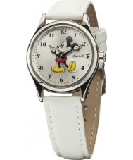 Disney by Ingersoll Ladies Classic Mickey Mouse White PU Leather Strap Watch