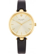 Kate Spade 1YRU0811 Ladies Holland Black Leather Strap Watch