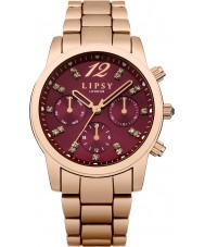 Lipsy Ladies Rose Gold Plated Bracelet Watch  - The Ladies Rose Gold Plated Bracelet Watch LP461 is a great example of the Lipsy watch range. You can buy with confidence that your LP461 Ladies Rose Gold Plated Bracelet Watch is fully covered by the official Lipsy warranty.