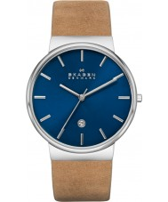 Skagen SKW6103 Mens Ancher Tan Leather Strap Watch