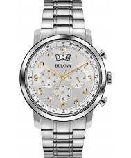 Bulova 96B201 Mens Dress Silver Chronograph Watch
