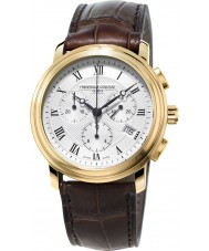 Frederique Constant FC-292MC4P5 Mens Classics Brown Chronograph Watch