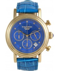 Krug-Baumen 150584DM Enterprise Diamond Blue-Gold Dial