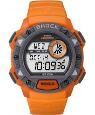 Timex TW4B07600 Mens Base Shock Orange Resin Chronograph Watch