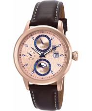 S Coifman SC0207 Mens Brown Leather Strap Watch