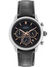 Rotary GS02876-04 Mens Timepieces Monaco Black Chronograph Watch
