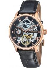 Thomas Earnshaw ES-8006-07 Mens Longitude Black Croco Leather Strap Watch